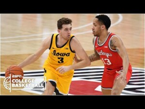 No. 9 Iowa Hawkeyes upsets No. 4 Ohio State [HIGHLIGHTS] | College Basketball on ESPN