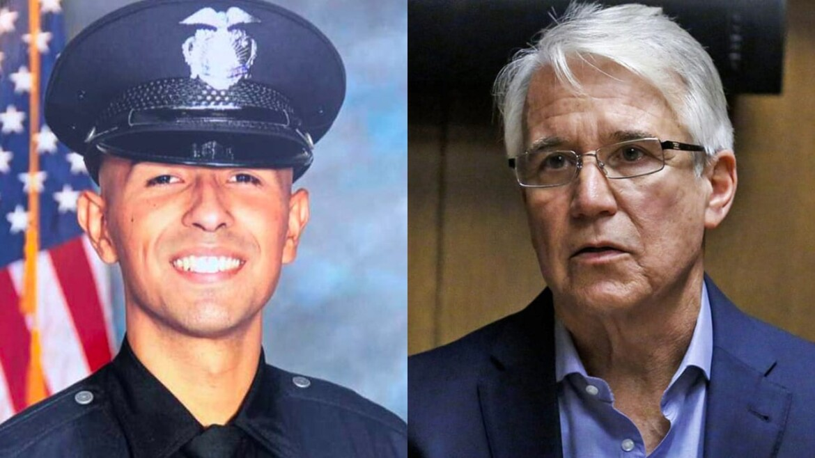 'We're being victimized again': Sister of murdered LAPD officer rips liberal DA Gascón