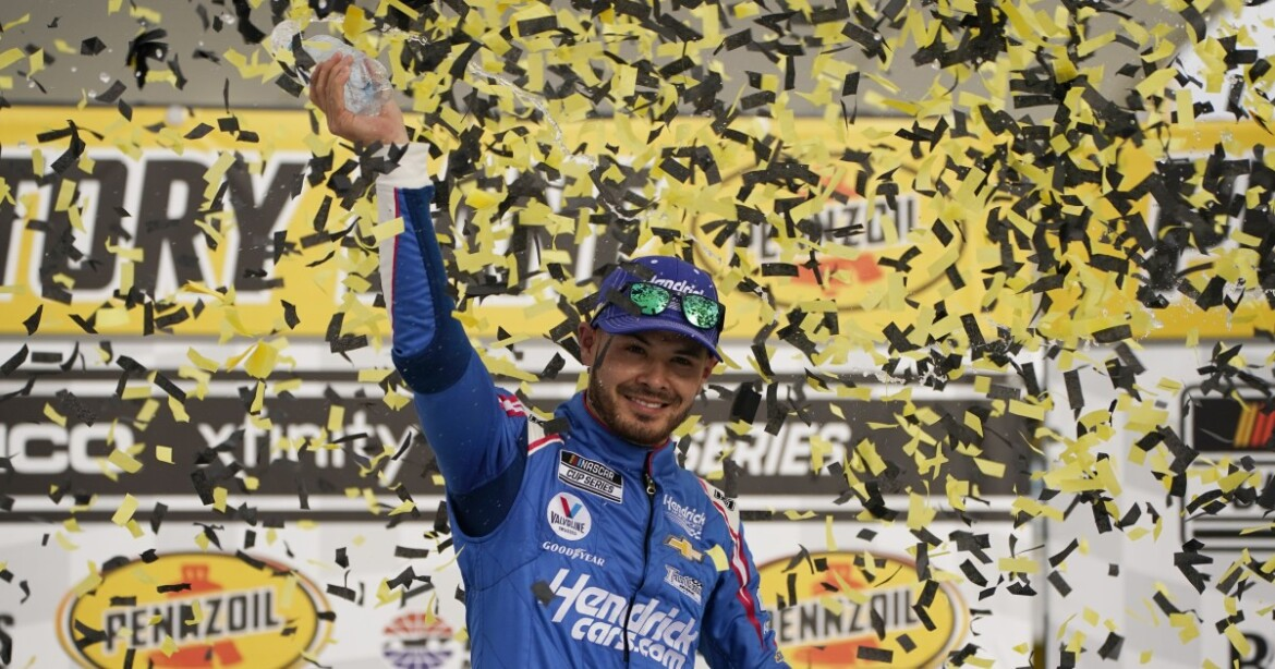 Kyle Larson scores his first NASCAR Cup win since suspension