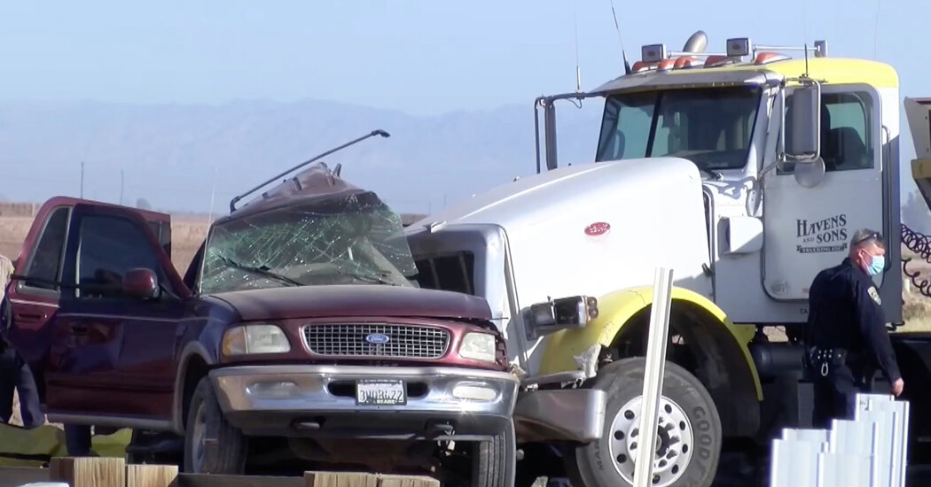 At Least 15 Killed in Crash in Southern California, Officials Say