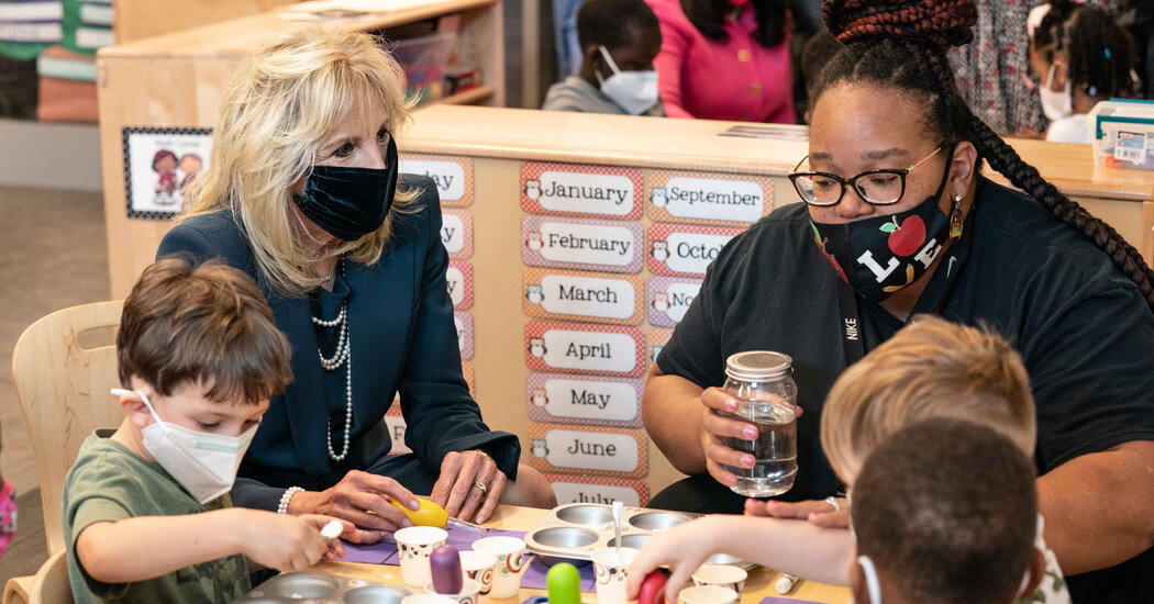 Jill Biden Details Stimulus Funding to Fight Child Poverty