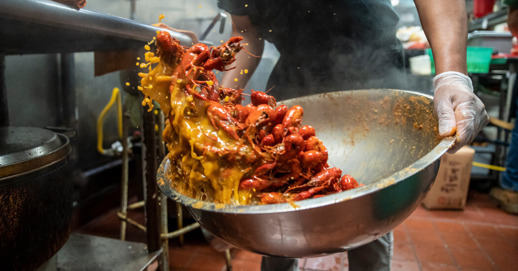 A Crawfish Feast Where the South Meets Southeast Asia