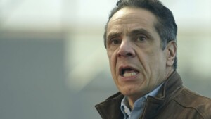 Cuomo's 'New York Tough' slogan seems mocked as 'NY Touch' in light display