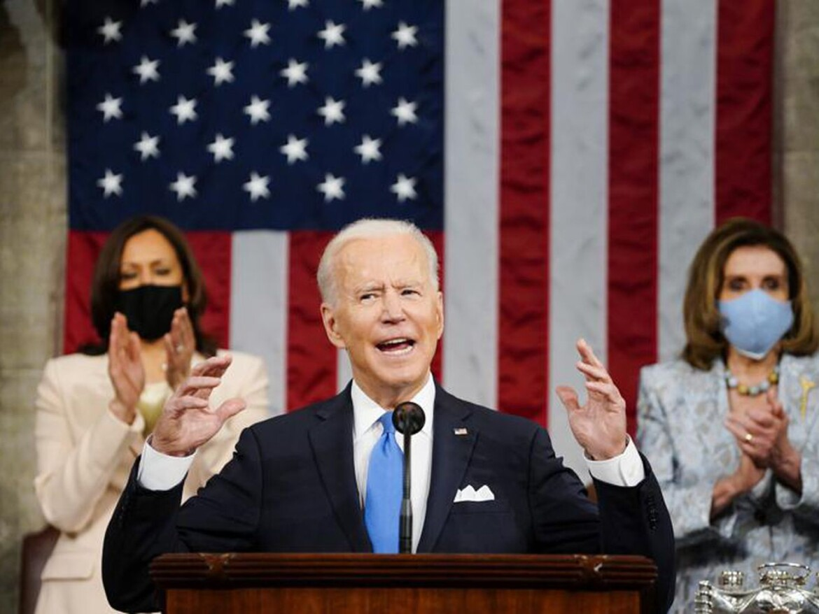 Biden declares in first address to Congress: 'America is rising anew'
