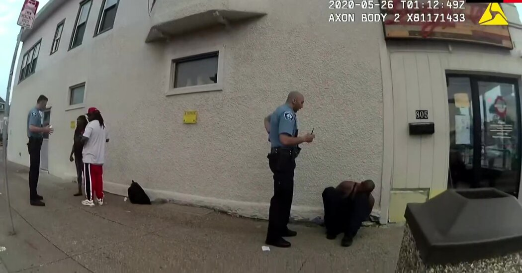 New Body Camera Footage Shows George Floyd Handcuffed on the Street