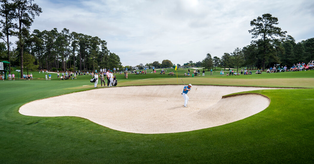 Scenes from the First Rounds of the Masters
