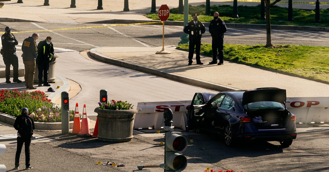 Driver Rams Into Officers at Capitol, Killing One and Injuring Another