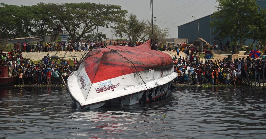 27 Killed as Cargo Ship Collides With Ferry in Bangladesh