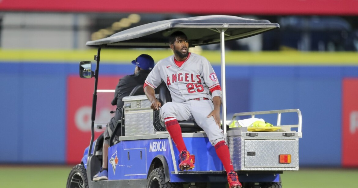Who will replace Angels outfielder Dexter Fowler, out for the season with a torn ACL?