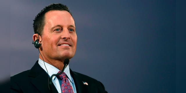 """In this Friday, Jan. 24, 2020 file photo, former National Security adviser Ric Grenell at a press conference in his subsequent role as former President Donald Trump's envoy for the Kosovo-Serbia dialogue. Grenell, a longtime California activist before his time working with Trump, is starting a new voter group called """"Fix California.""""(AP Photo/Darko Vojinovic, file)"""