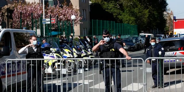 French officials open terror probe after police officer fatally stabbed, attacker shot dead