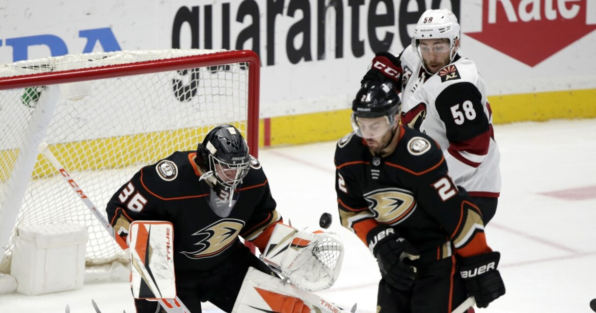 Jakob Chychrun's hat trick goal in overtime dooms Ducks to another loss