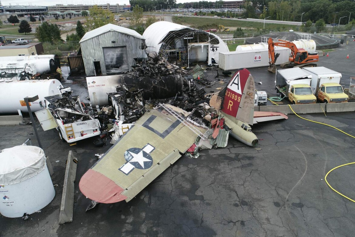 NTSB: Pilot error likely caused vintage bomber's fatal crash