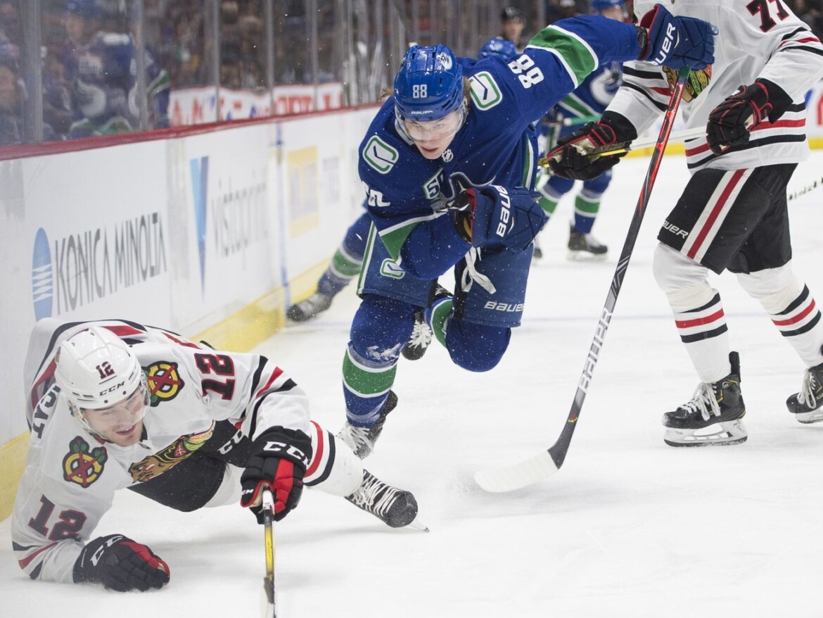 Blackhawks acquire Adam Gaudette for Matthew Highmore in trade with Canucks