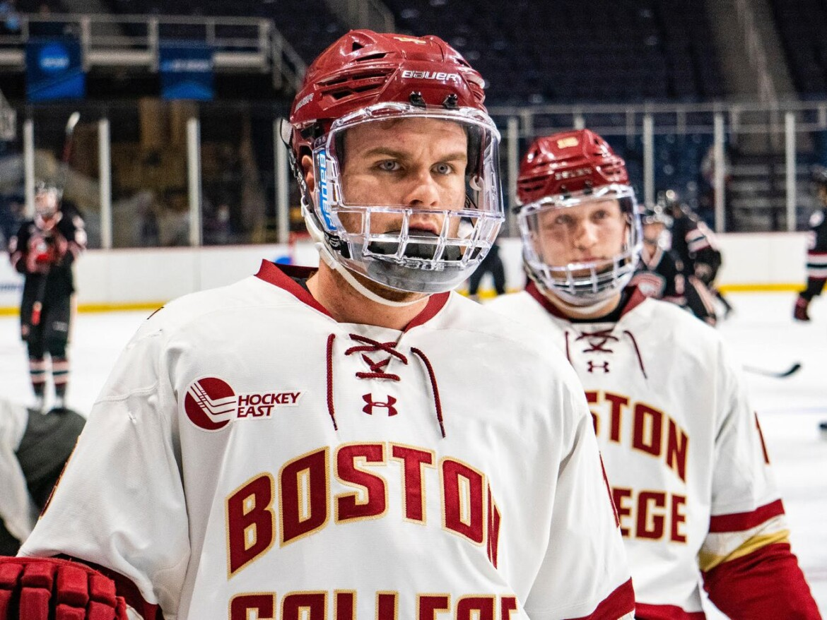 Dominant Boston College line developed undrafted Mike Hardman into Blackhawks signing