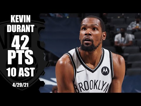 Kevin Durant ties his season-high with 42 PTS and had 10 AST in the win!