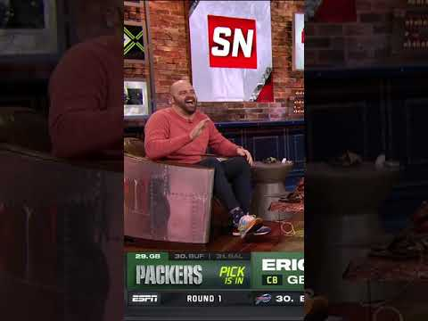 All Mike Golic Jr. could do was laugh when the Packers drafted defense again #Shorts
