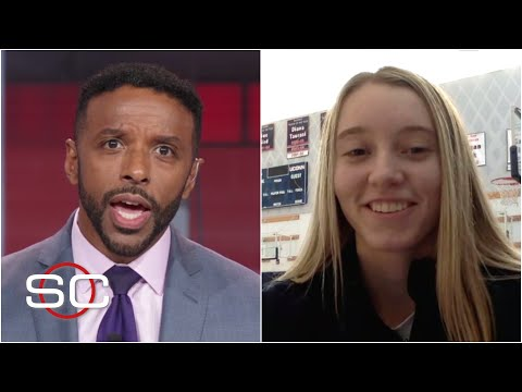 Paige Bueckers reacts to winning the 2021 Wooden Award | SportsCenter