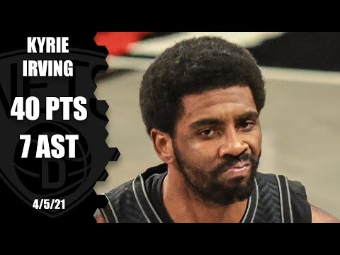 Kyrie Irving drops 40 PTS & 7 AST after James Harden leaves with injury vs. Knicks | NBA on ESPN