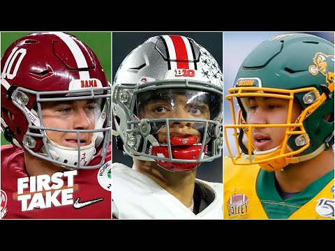 Is Mac Jones more NFL-ready than Justin Fields and Trey Lance? | First Take