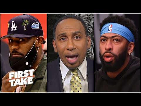 Stephen A. isn't concerned about LeBron, but has worries about AD's injury | First Take
