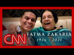 Watch Fareed Zakaria's moving tribute to his mom