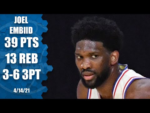 Joel Embiid GOES OFF for 39 PTS and 13 REB in 76ers W over Nets!