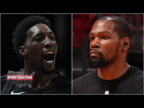 Bam Adebayo hits the game-winner and KD's early exit in the Heat's win vs. the Nets | SportsNation