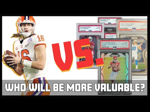 How will Trevor Lawrence's rookie card value stack up against Mahomes, Herbert and Allen? | ESPN