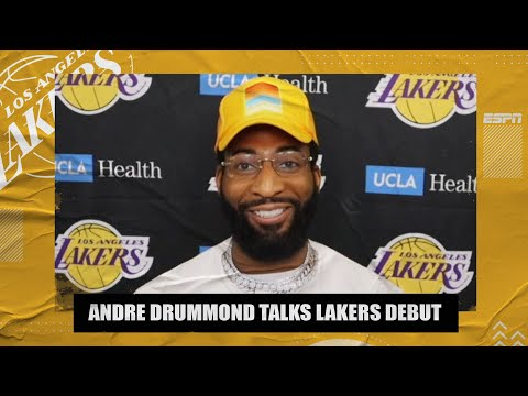 Andre Drummond says injury in Lakers debut was very painful | NBA on ESPN