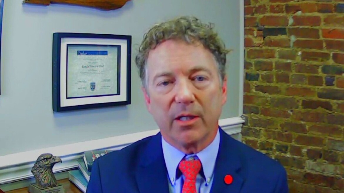 Sen. Paul: Health officials 'can't stand good news' about pandemic because 'they are big government people'