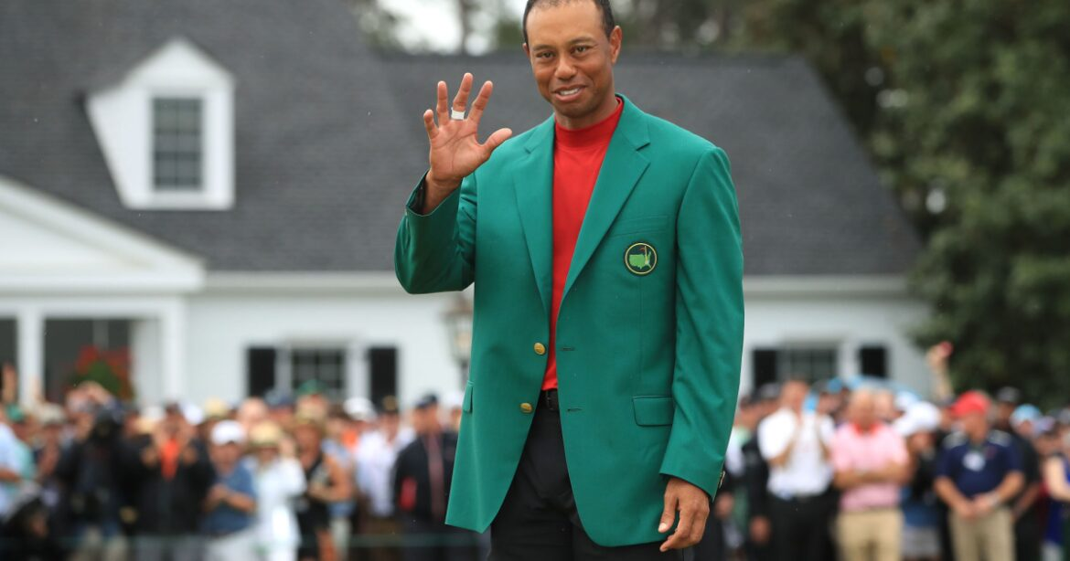 Tiger Woods isn't at the Masters, but he's on minds of golfers at Augusta