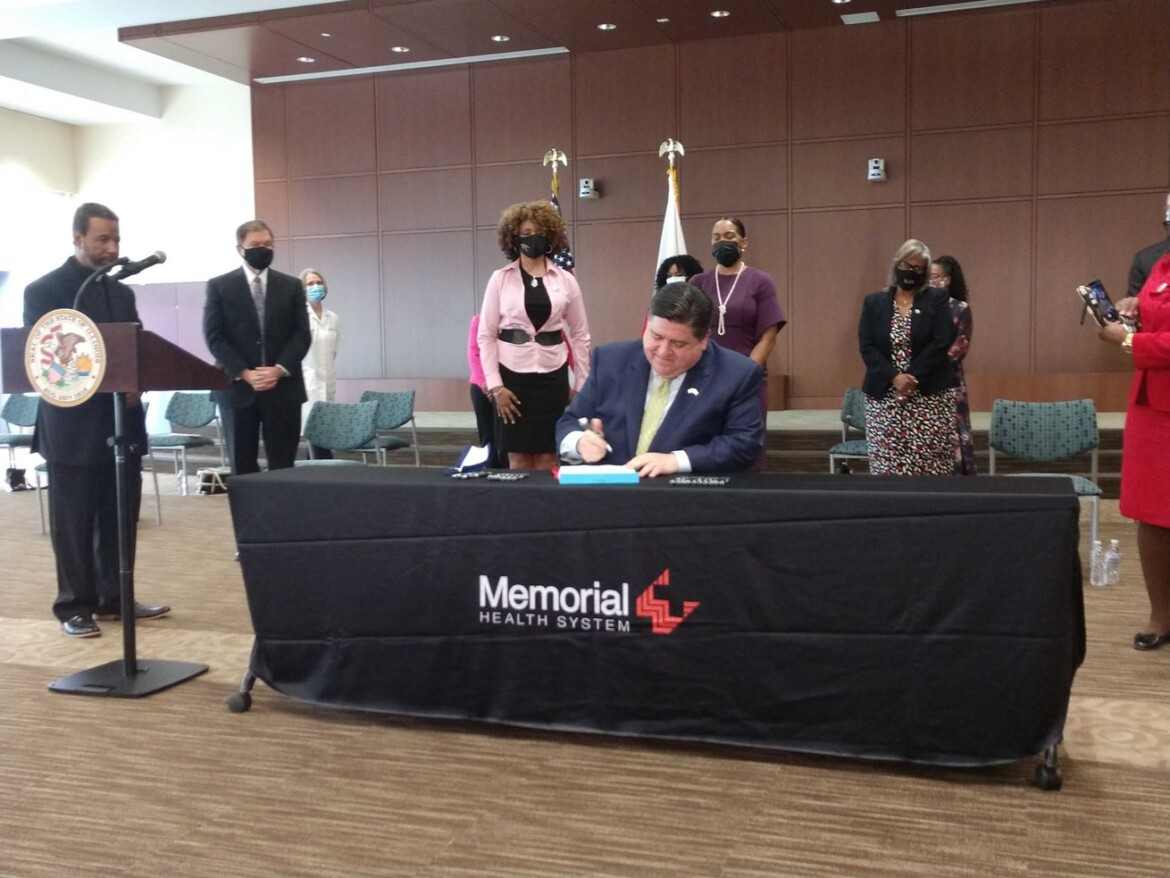 Pritzker signs bill to heal real health care problems facing Black and Brown residents — but GOP says it's based on 'fantasy money'