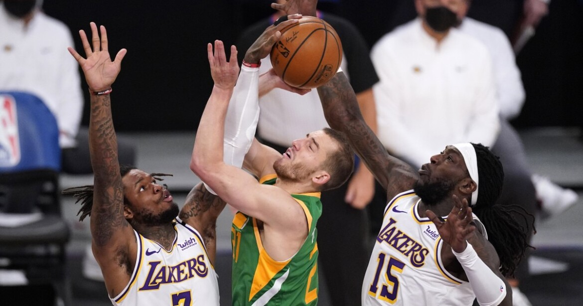 Lakers beat Jazz in overtime battle of attrition