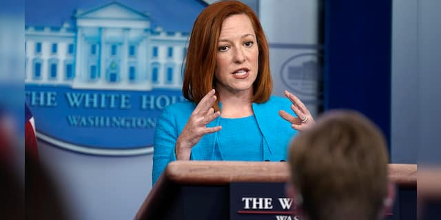 White House press secretary Jen Psaki speaks during a press briefing at the White House, Monday, March 22, 2021, in Washington, D.C.