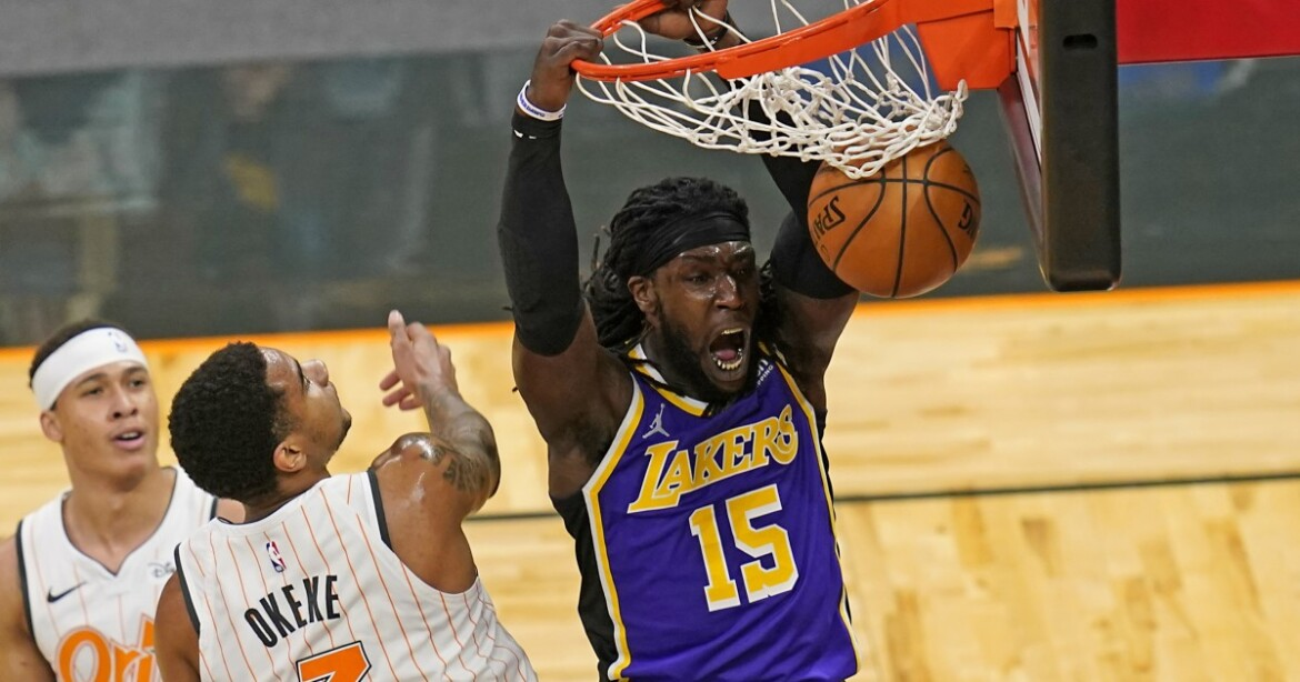 Lakers' Montrezl Harrell thrives against Orlando after not playing in last game