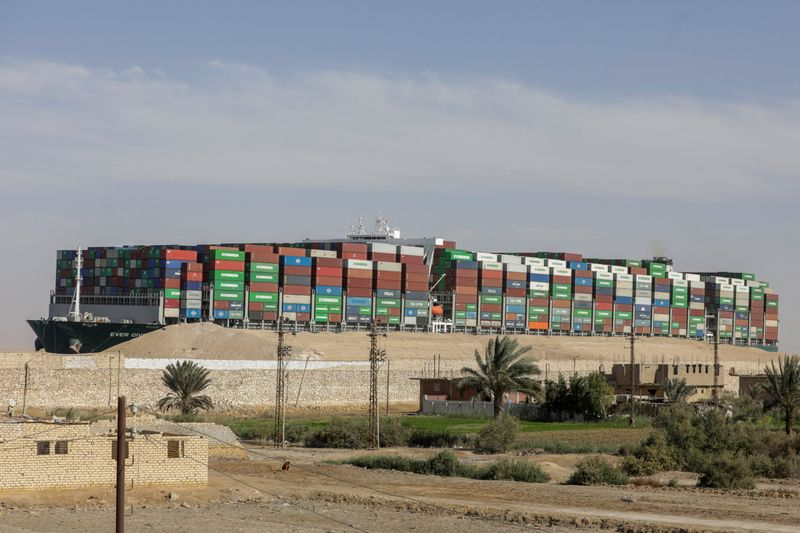 Dislodged ship held in Suez Canal as compensation talks continue