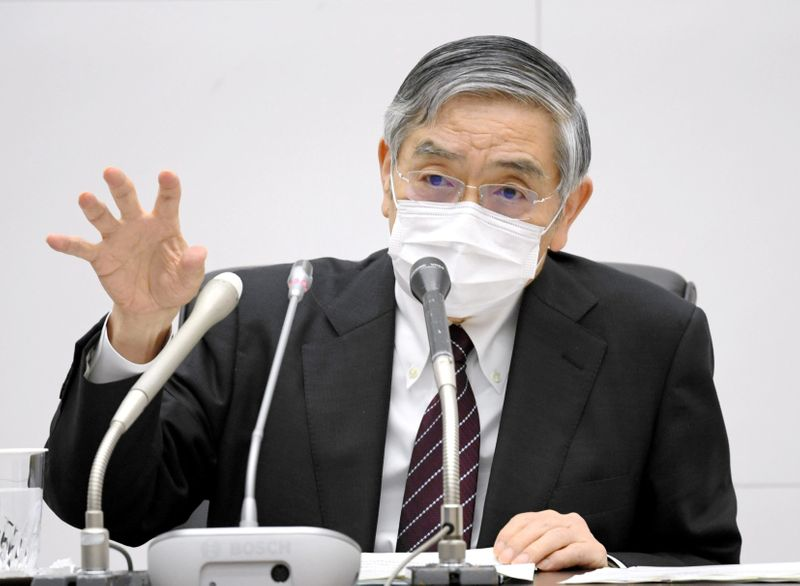 BOJ Kuroda offers cautiously optimistic view on economy