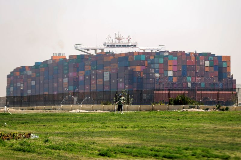 Arrested Suez ship fit for onward passage, manager says