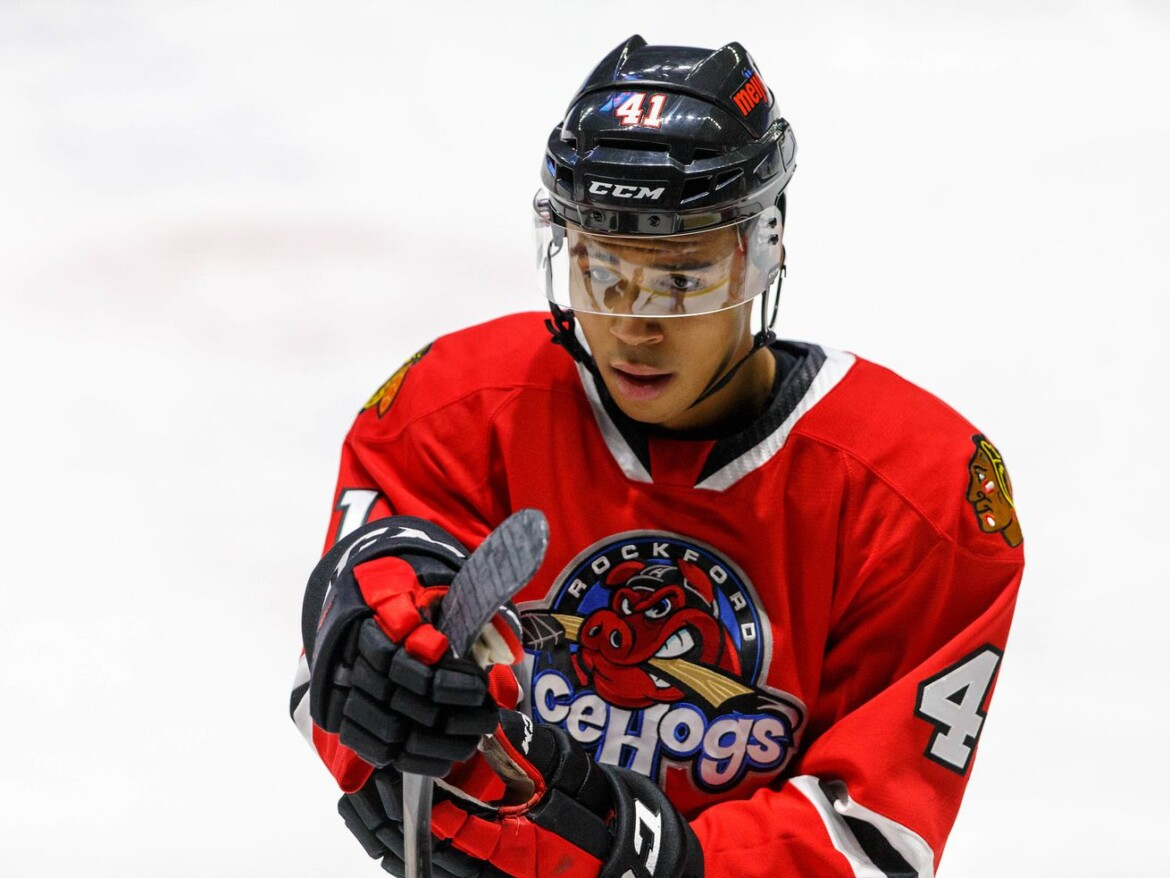 As Jamaican hockey movement grows, Blackhawks' Isaak Phillips could soon become its first NHL alumnus