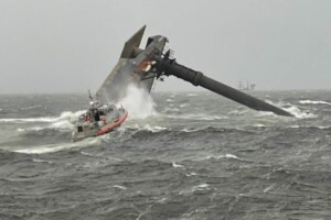Coast Guard searches for 12 missing from capsized ship