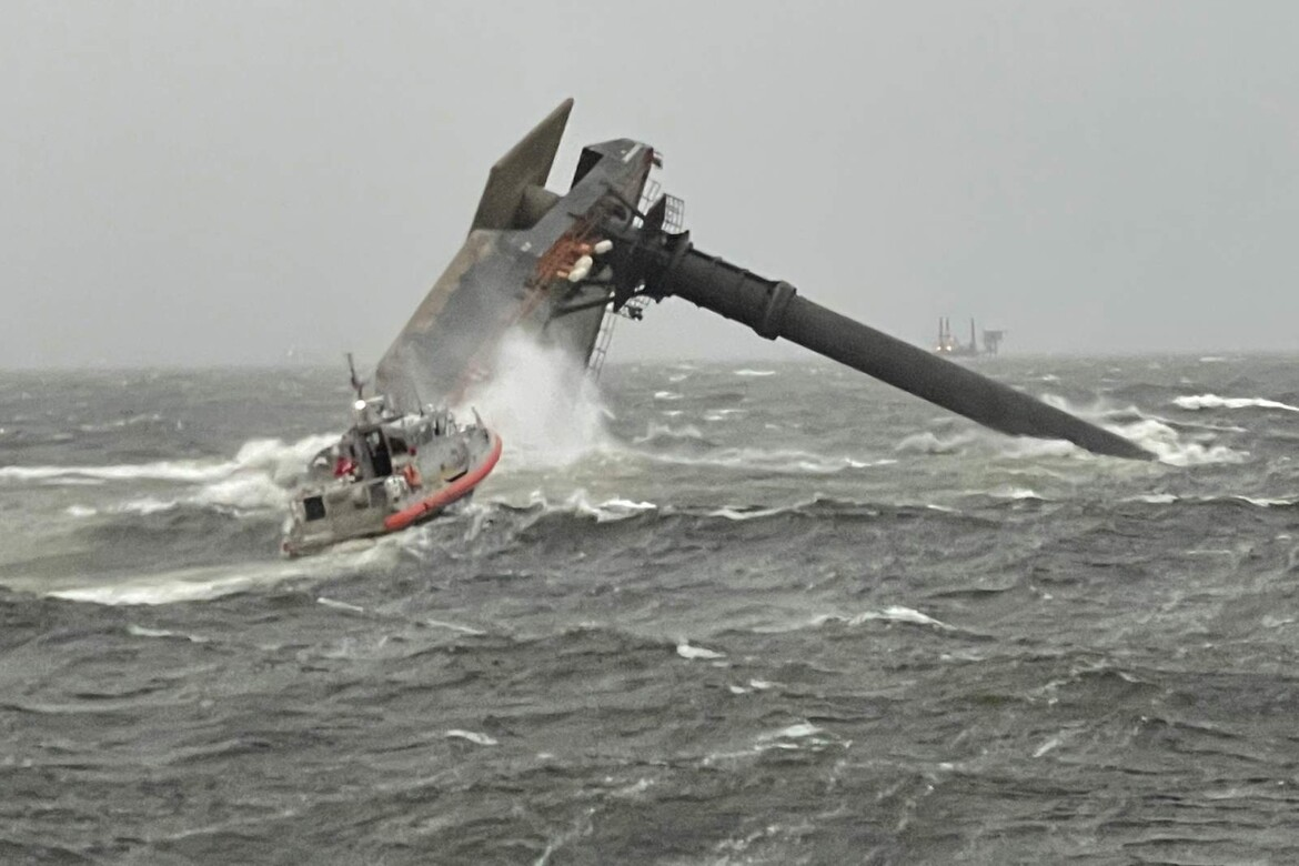Coast Guard: 6 rescued from capsized ship off Louisiana