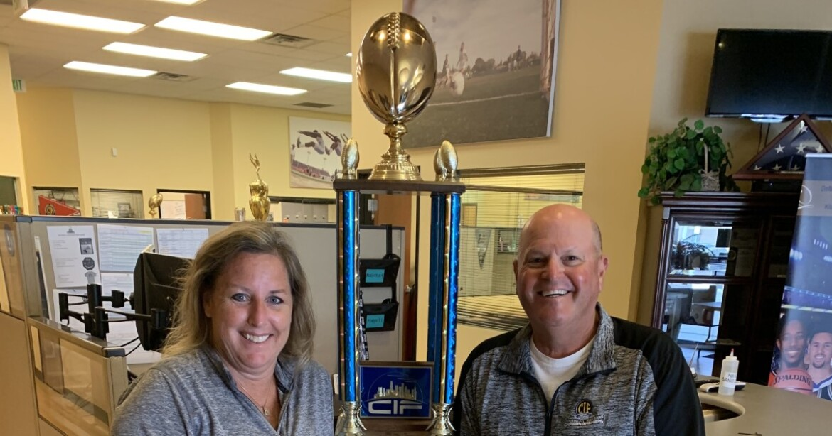 Mystery solved: City Section perpetual football trophy found in trash
