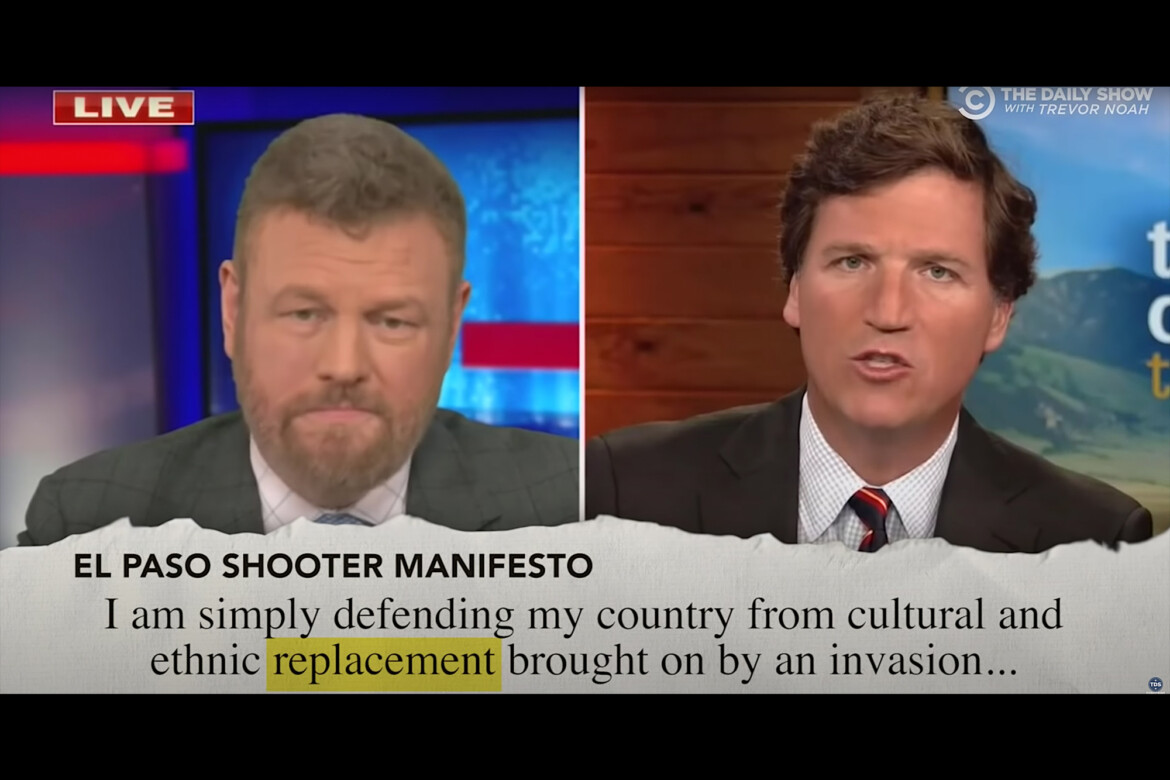 The Daily Show Demonstrates How Tucker Carlson Uses the Language of White Supremacist Murderers