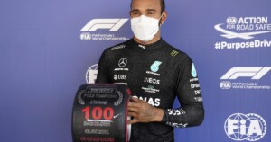 Lewis Hamilton claims 100th F1 pole position at Spanish Grand Prix