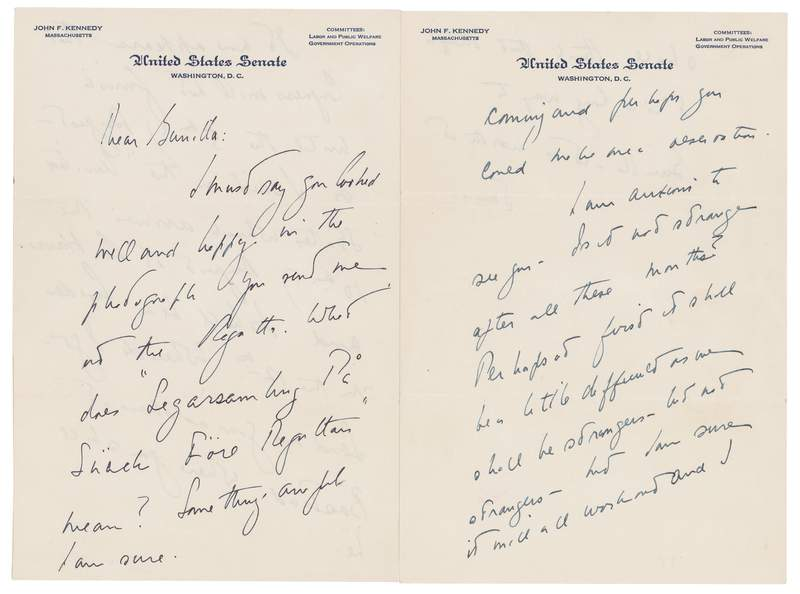 'Anxious to see you:' JFK letters to Swedish lover auctioned