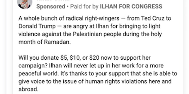 Ilhan Omar fundraises off backlash to anti-Israel comments