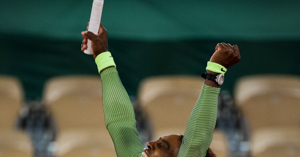 Serena Williams Wins in the First Round at the French Open