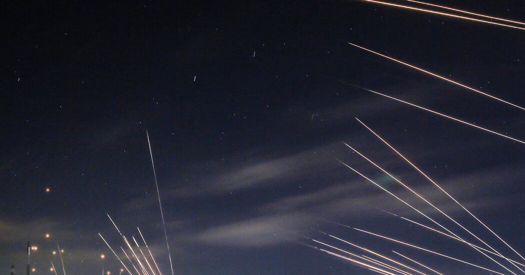 In pictures: Fire and thunder fill the night sky as Israel's Iron Dome is tested.