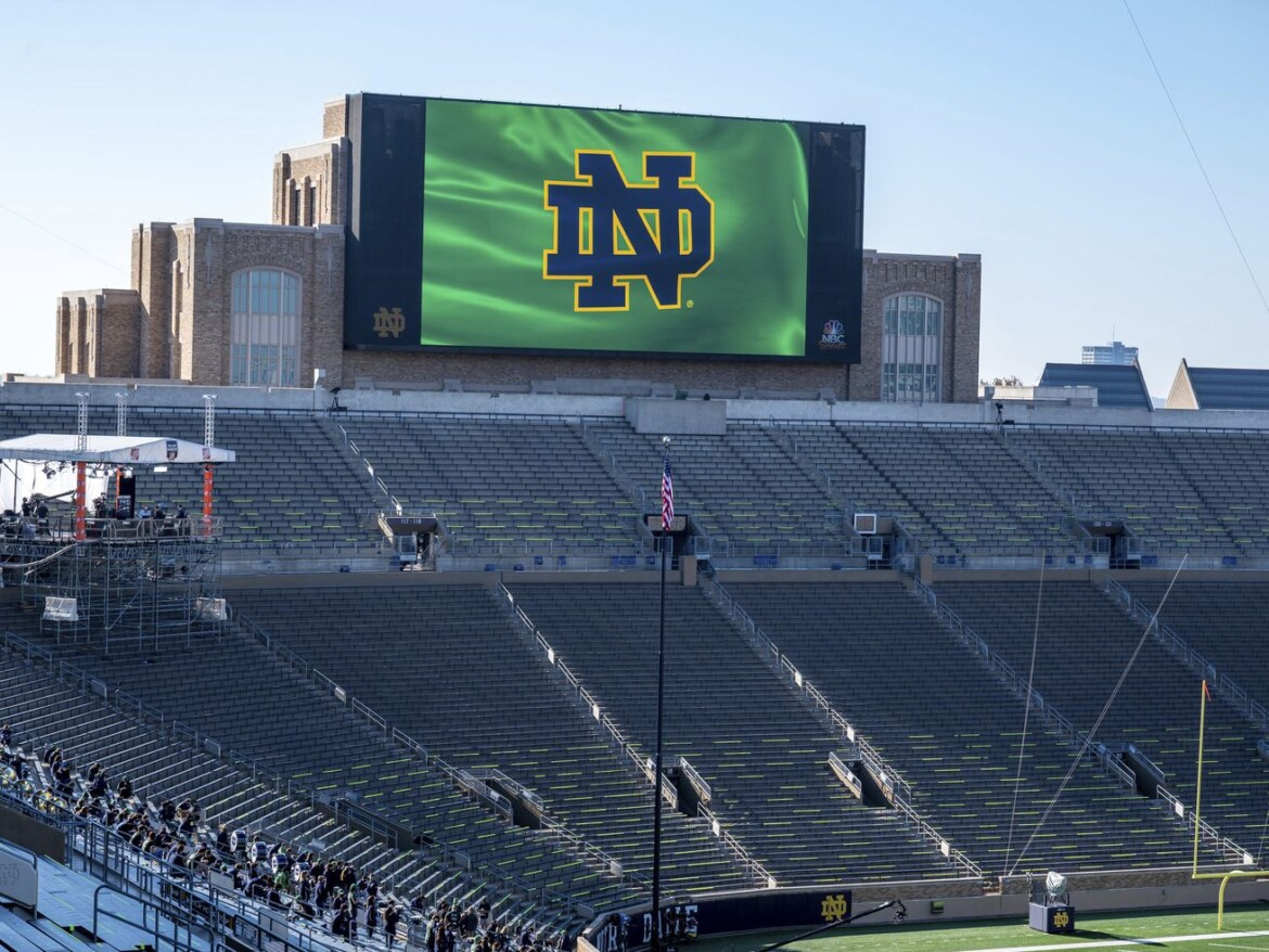 Notre Dame plans to allow full stadium capacity for upcoming football season